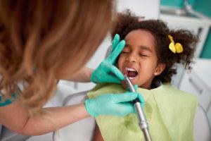 little girl at the dentist's